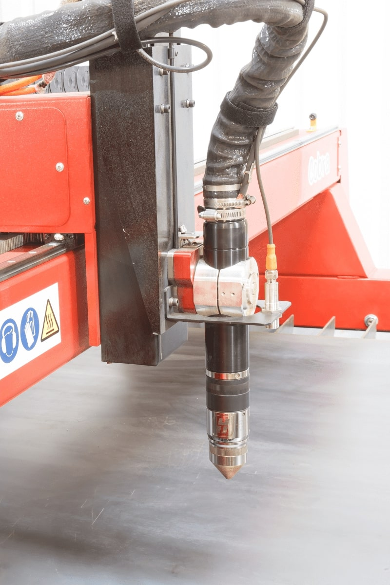 Esprit Automation Ltd Cobra CNC Plasma Cutting Table Closeup