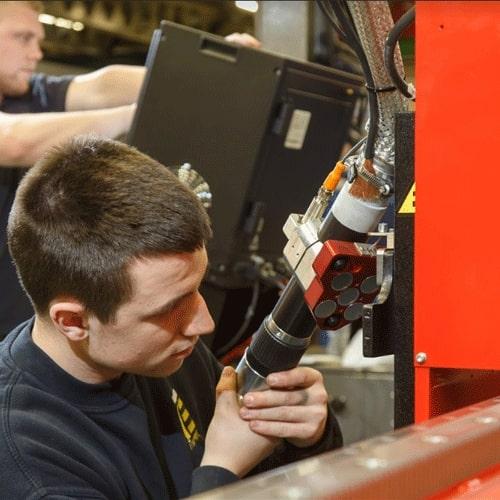 Esprit Automation refurbishing a used cnc plasma cutting machine