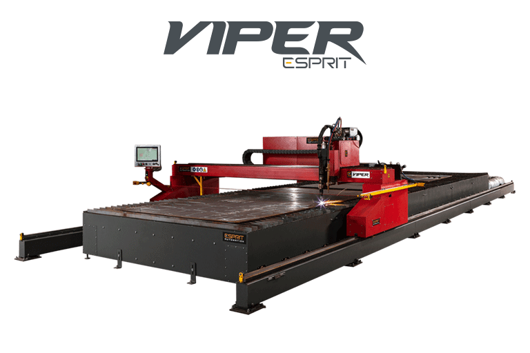 Machine de découpe plasma Viper CNC d'Esprit Automation ltd à fond transparent