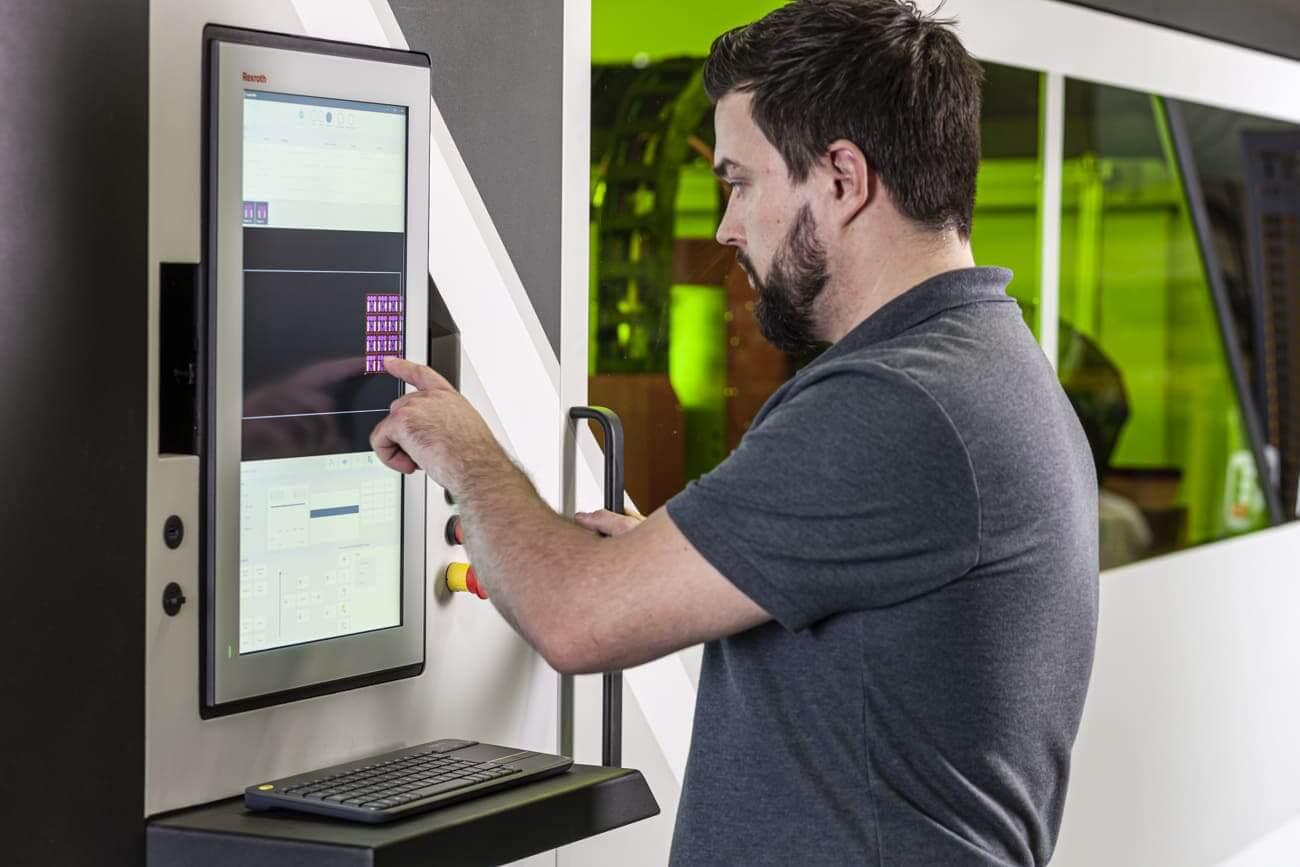 Utilisation de l'IHM de la machine de découpe laser à fibre Photon 5G