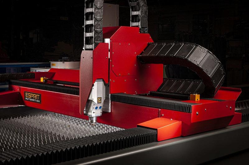 Tête de découpe laser à fibre Photon 5G, moteurs à entraînement linéaire et portique