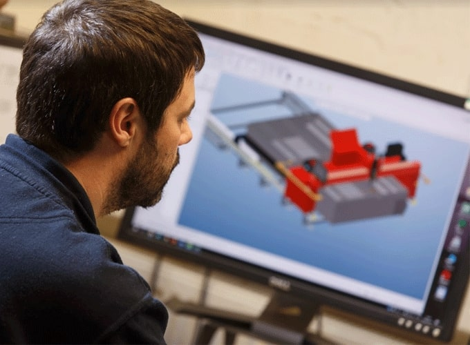 Esprit Automation Ltd Designing a Plate Beveling Machine