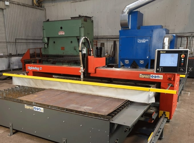 Donaldson Plasma Cutter Filter & Esprit Automation Machine