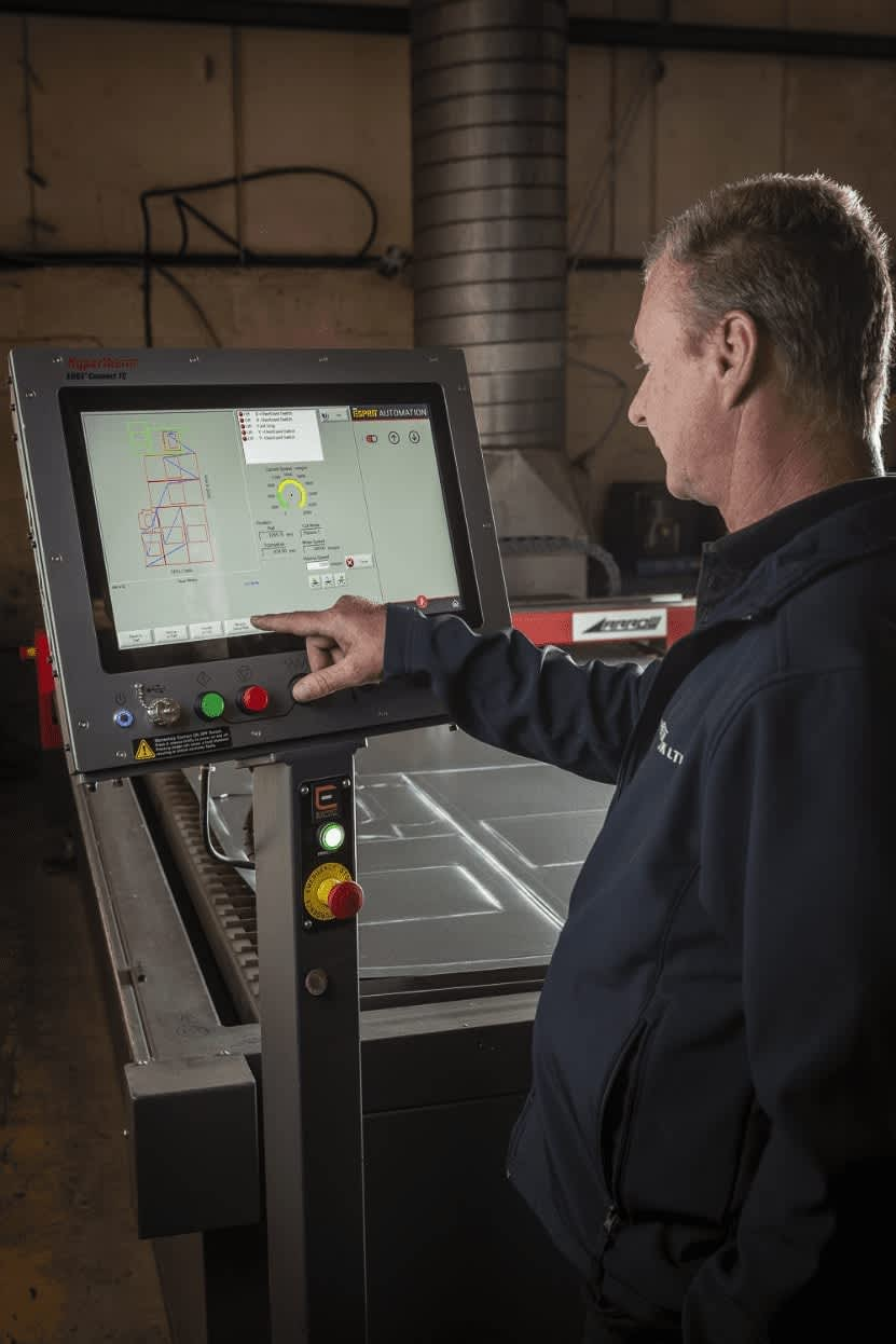 Esprit Automation Arrow Plasma Cutter at Ventilair Uk