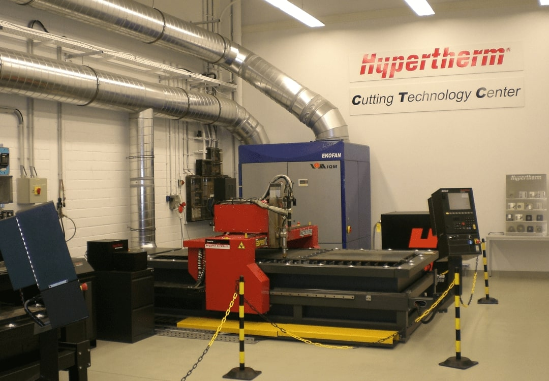 Esprit Automation CNC Plasma Cutter in Hypertherm Roosendaal Test Facility