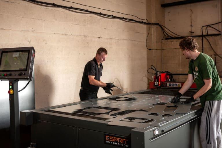 Esprit Automation Ltd Arrow CNC Plasma Cutting Machine Used by Ventilair UK