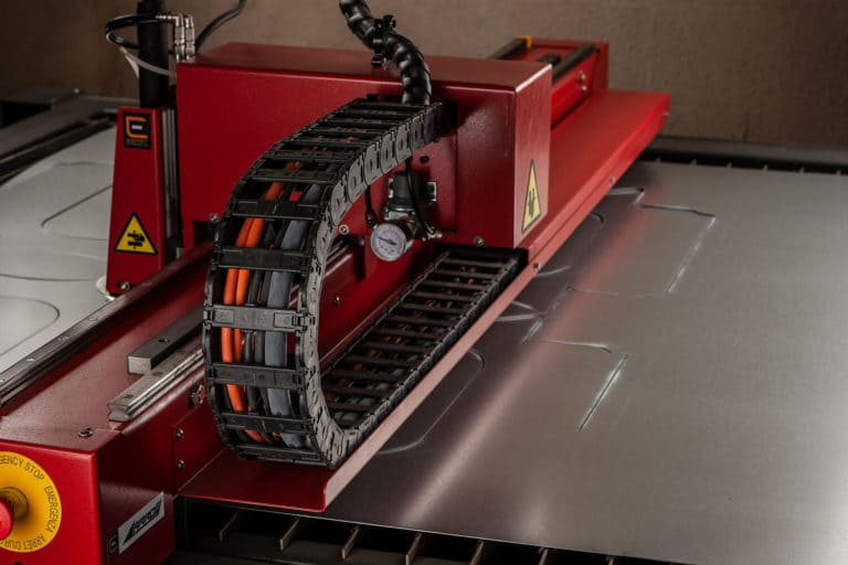 Esprit Automation Ltd Arrow CNC Plasma Cutting Machine side from the left