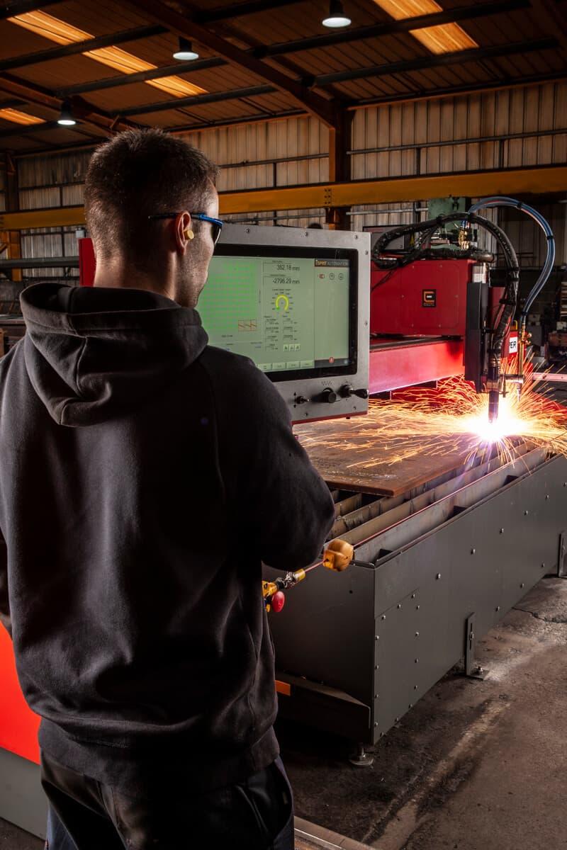 Esprit Automation Ltd. Viper CNC Plasma Profile Cutting Machine in action at Adam Liddle
