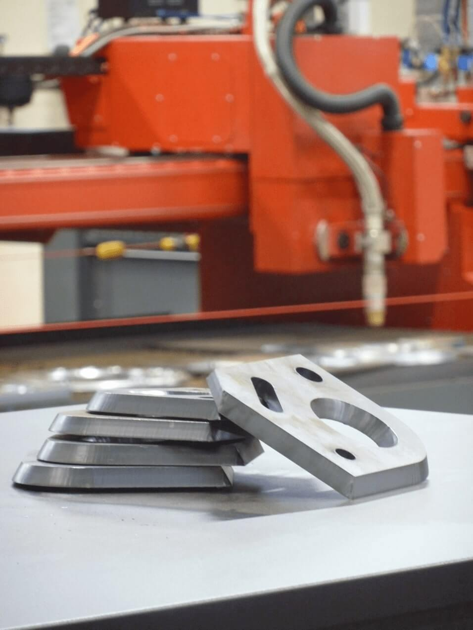 Esprit Automation Multibevel CNC Plasma Bevelling Machine angled edge cuts