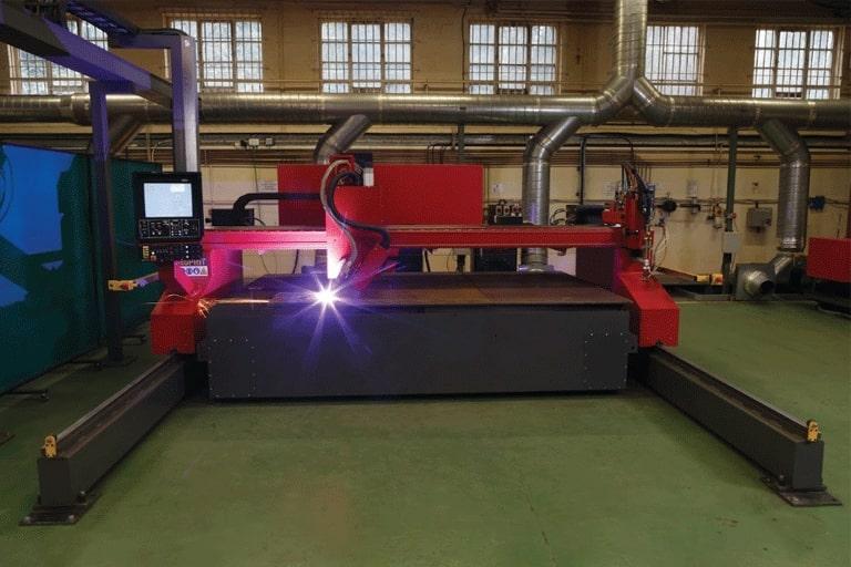 Esprit Automation Ltd Multibevel CNC Plasma Plate Bevelling Machine