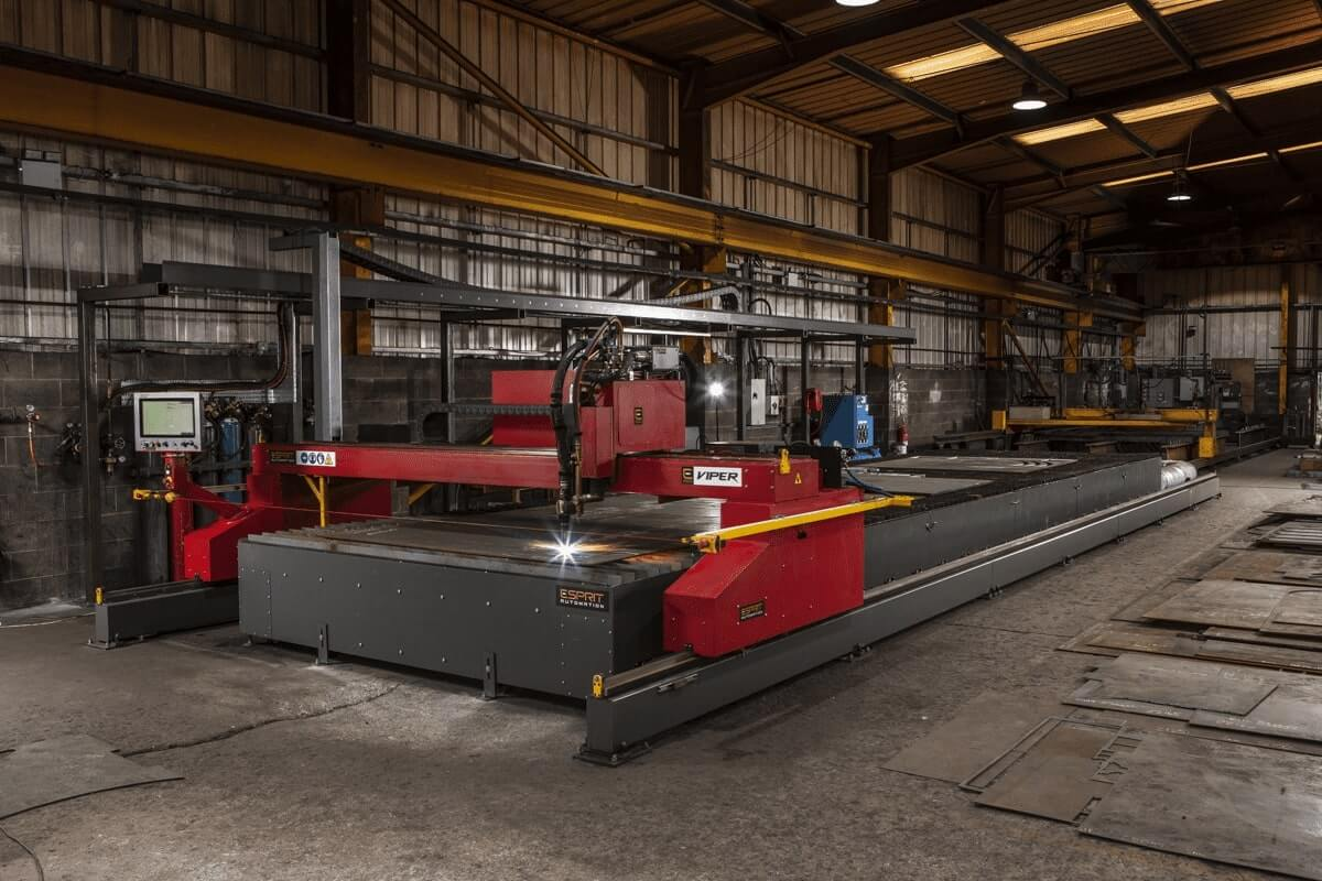 Esprit Automation Viper HD CNC Plasma Cutter at Allan Liddle Steel Full View