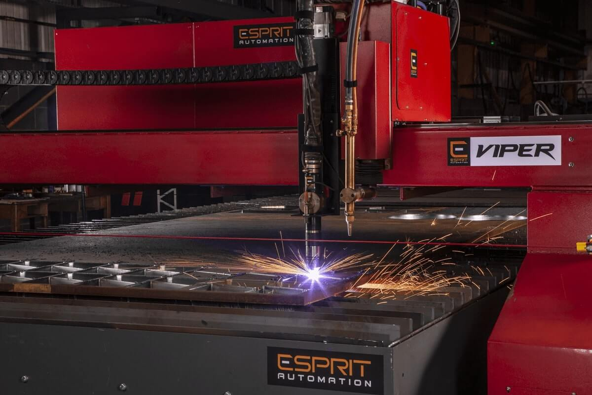 Esprit Automation Viper HD CNC Plasma Cutter at Allan Liddle Steel Zoom