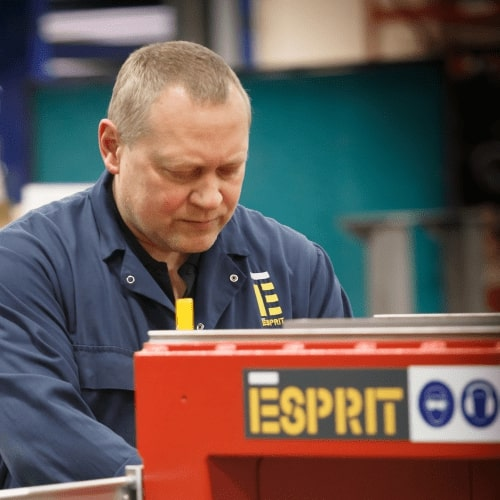 Esprit Automation ltd finalizing the manufacturing of a CNC plasma cutting machine