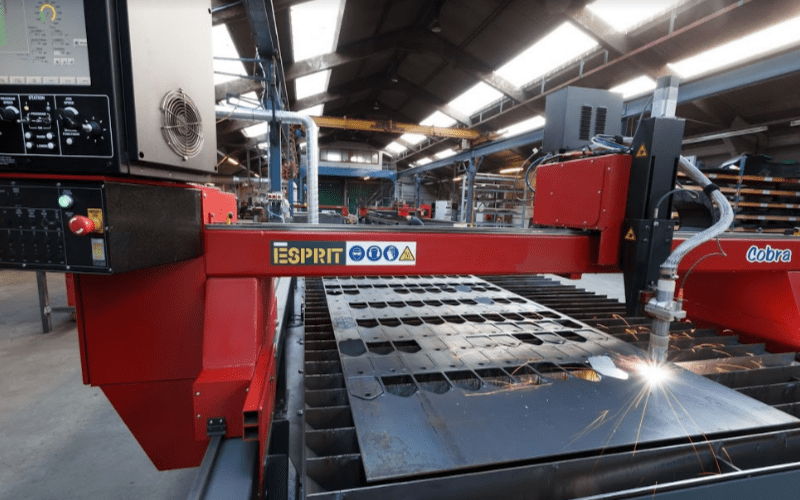 Esprit Automation ltd second hand cnc plasma cutting machine