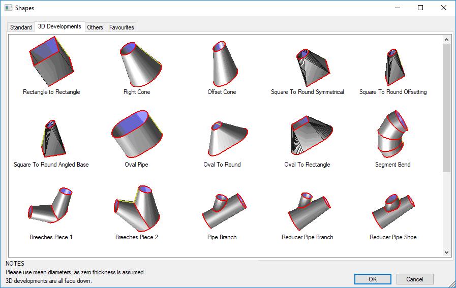 Procut-shapes-database & 3D developments