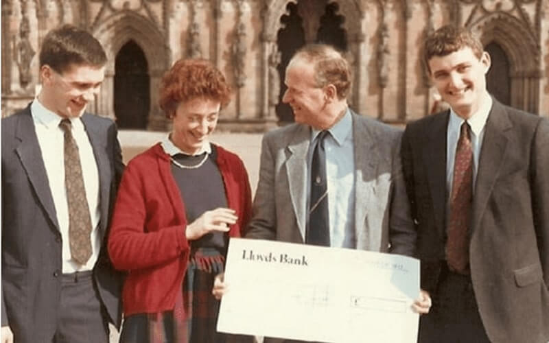 The-beginning of Esprit Automation in 1986 with the Prins of Wales giving a grant
