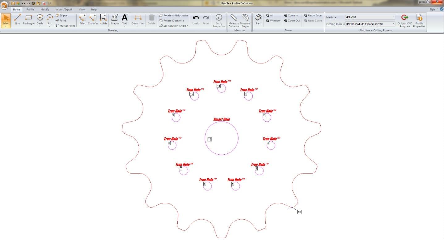 Esprit Automation CNC Plasma Cutter Software Package Procut shapes database