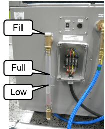 Check if the Coolant Level of your plasma cutting machine is high or low