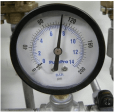 Confirm that ALL inlet gas pressures are 115 PSI (8.3 Bar) [± 15%]