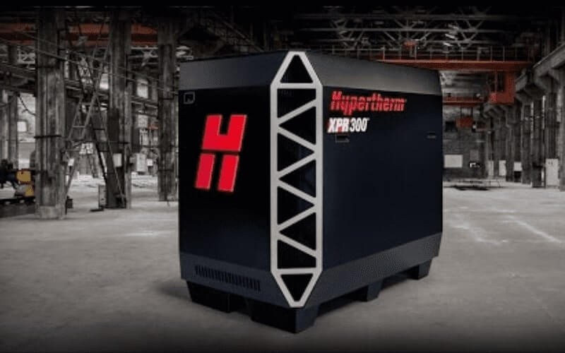 XPR300 Plasma Cutting System with Industrial Background