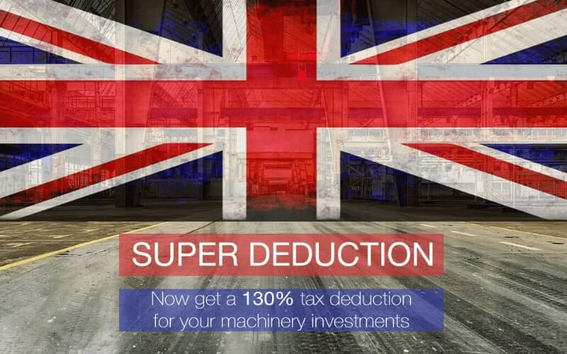 Learn More about the UK Super deduction for machinery investments